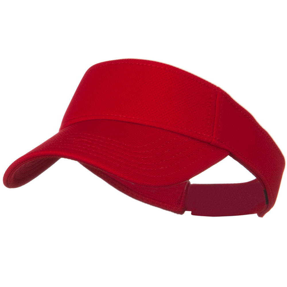 Cool Comfort Polyester Cool Mesh Sun Visor - Red - Hats and Caps Online Shop - Hip Head Gear