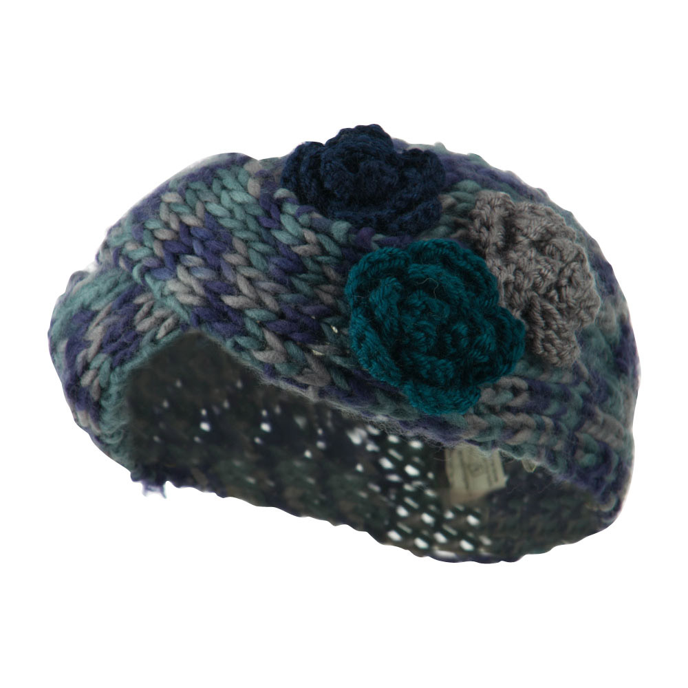 Multi Color Knit Headband - Navy - Hats and Caps Online Shop - Hip Head Gear