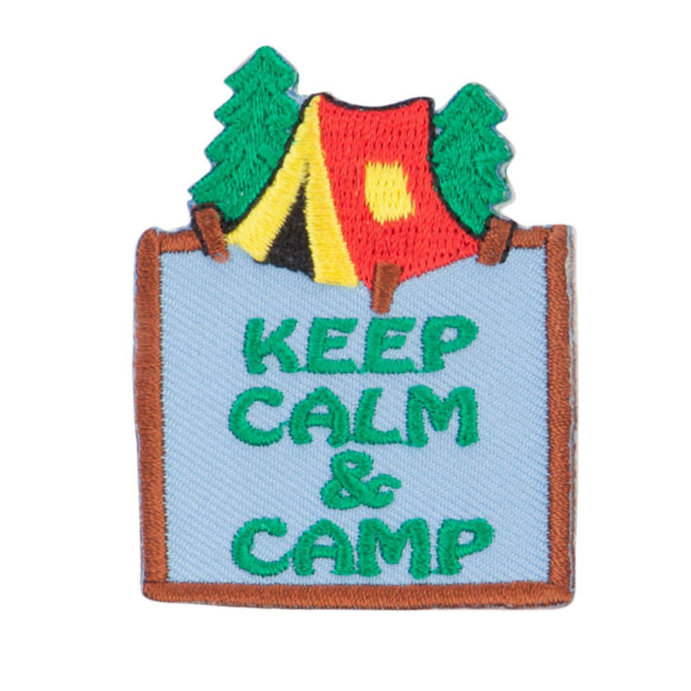 Camping Fun Patches - Brown