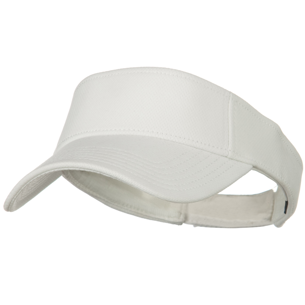 Cool Comfort Polyester Cool Mesh Sun Visor - White - Hats and Caps Online Shop - Hip Head Gear