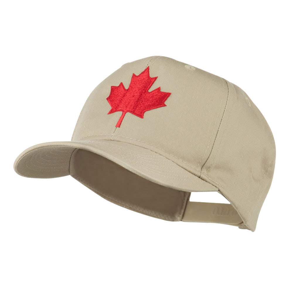 Canada's Maple Leaf Embroidered Cap - Khaki - Hats and Caps Online Shop - Hip Head Gear