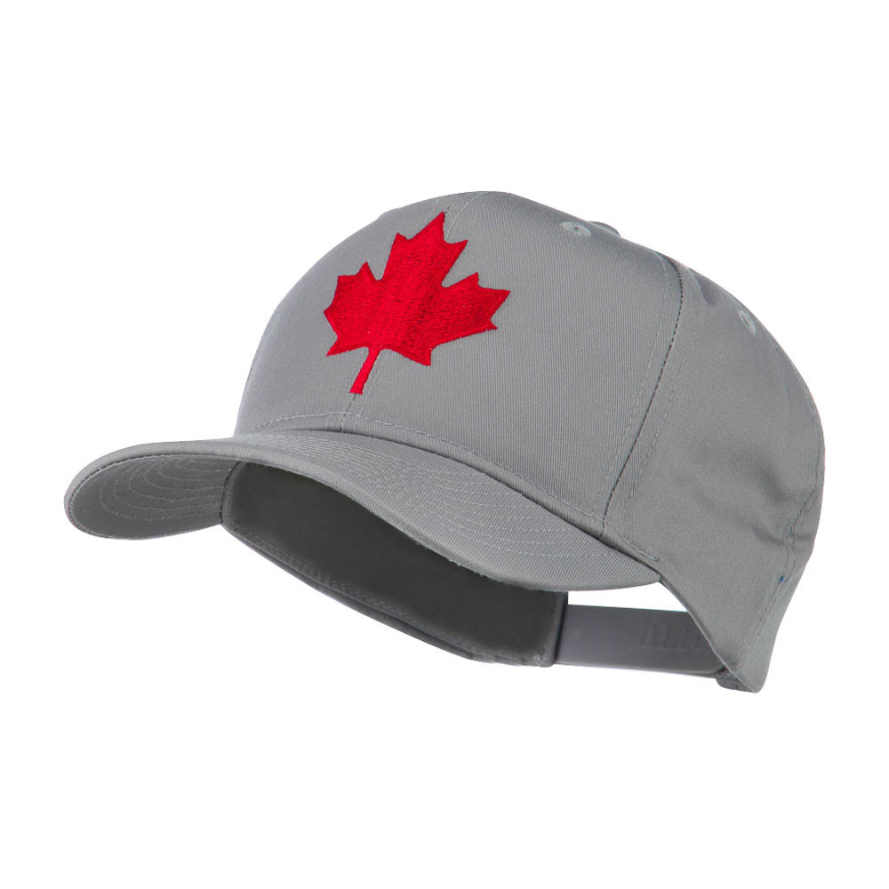 Canada's Maple Leaf Embroidered Cap - Grey - Hats and Caps Online Shop - Hip Head Gear