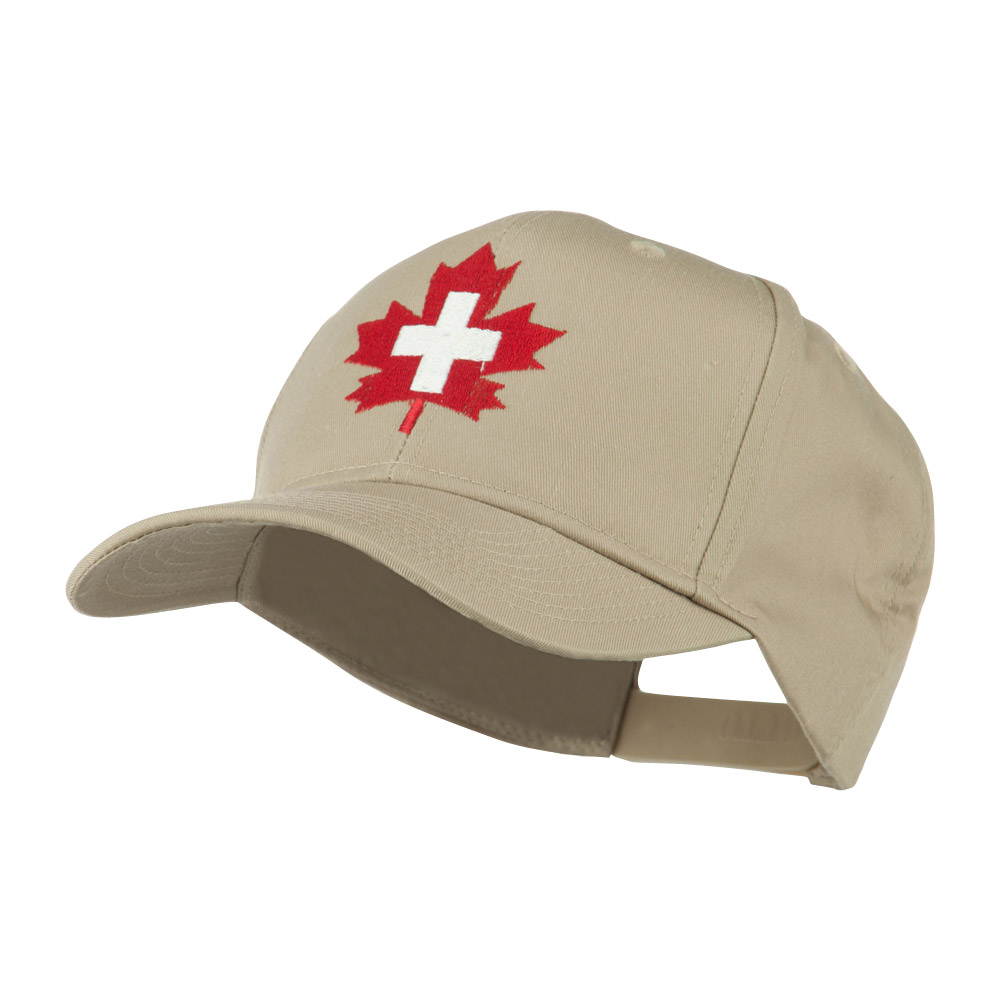 Canada's EMT Medical Maple Leaf Embroidered Cap - Khaki - Hats and Caps Online Shop - Hip Head Gear