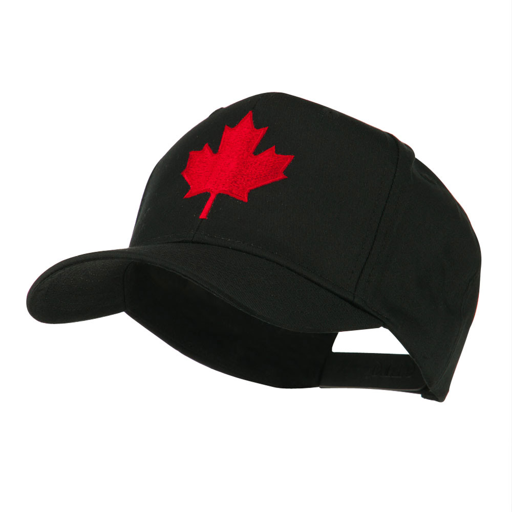 Canada's Maple Leaf Embroidered Cap - Black - Hats and Caps Online Shop - Hip Head Gear