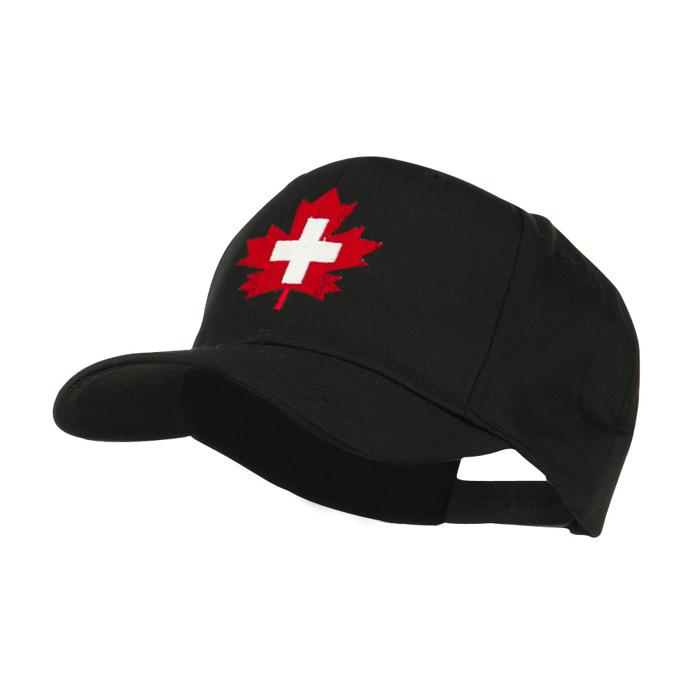 Canada's EMT Medical Maple Leaf Embroidered Cap - Black - Hats and Caps Online Shop - Hip Head Gear