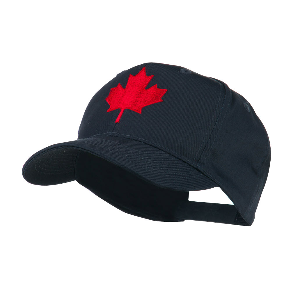 Canada's Maple Leaf Embroidered Cap - Navy - Hats and Caps Online Shop - Hip Head Gear