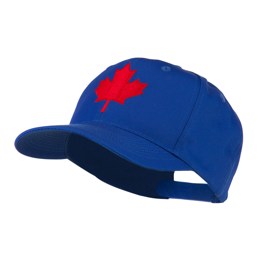 Canada's Maple Leaf Embroidered Cap - Royal - Hats and Caps Online Shop - Hip Head Gear