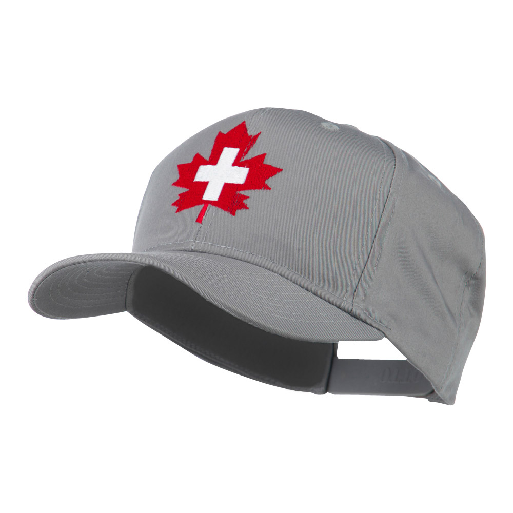 Canada's EMT Medical Maple Leaf Embroidered Cap - Grey - Hats and Caps Online Shop - Hip Head Gear