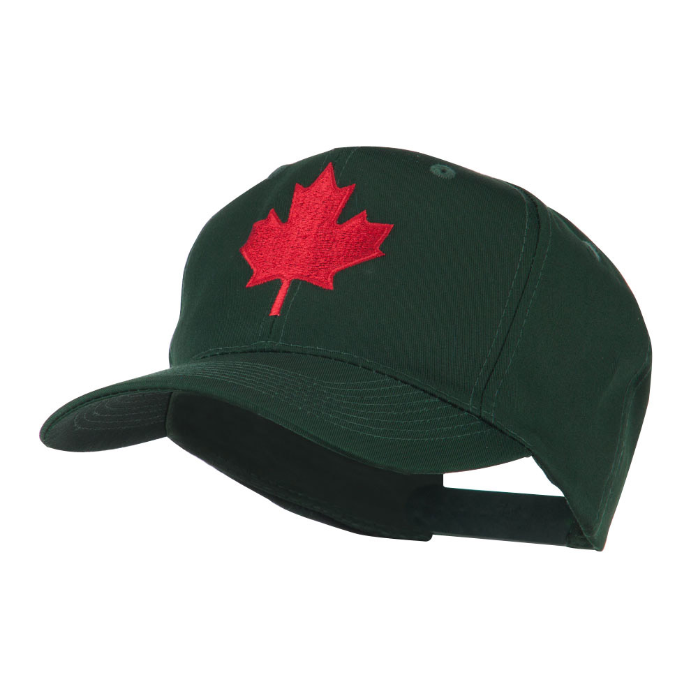Canada's Maple Leaf Embroidered Cap - Green - Hats and Caps Online Shop - Hip Head Gear