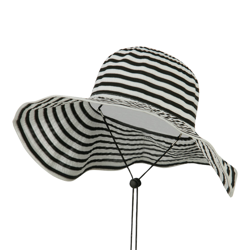 Foldable Hat with Chin Cord - Black - Hats and Caps Online Shop - Hip Head Gear