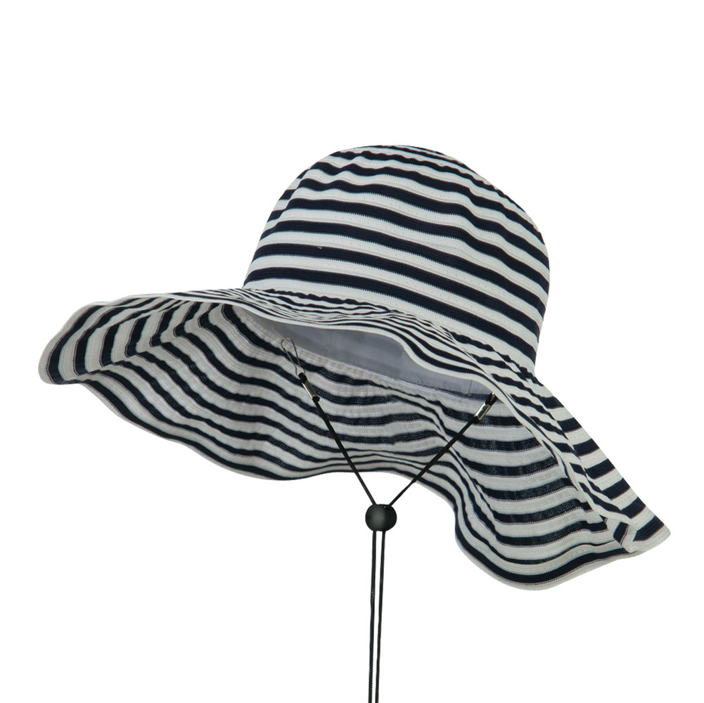 Foldable Hat with Chin Cord - Navy - Hats and Caps Online Shop - Hip Head Gear