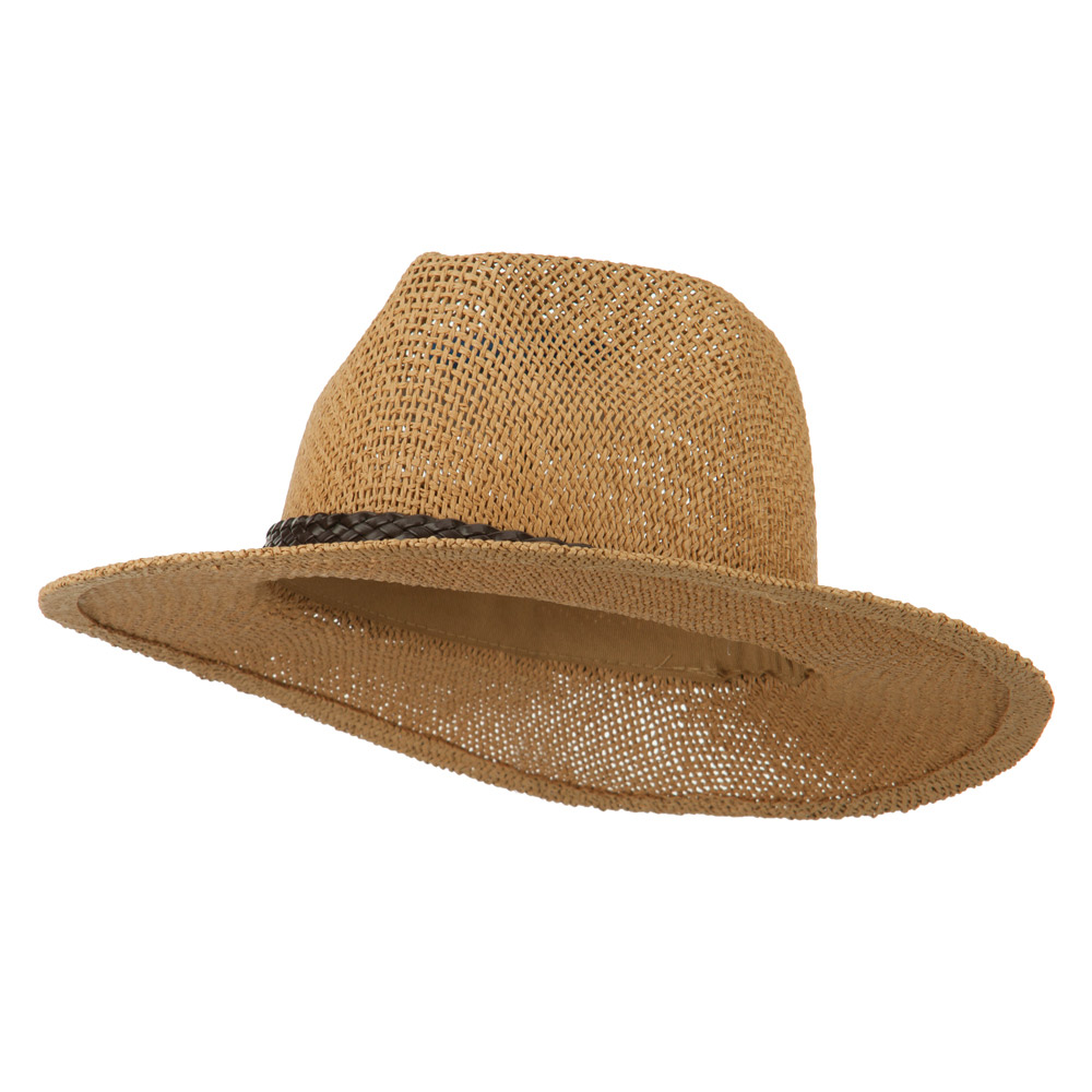 Fedora Style Cowboy Outback   - Khaki - Hats and Caps Online Shop - Hip Head Gear