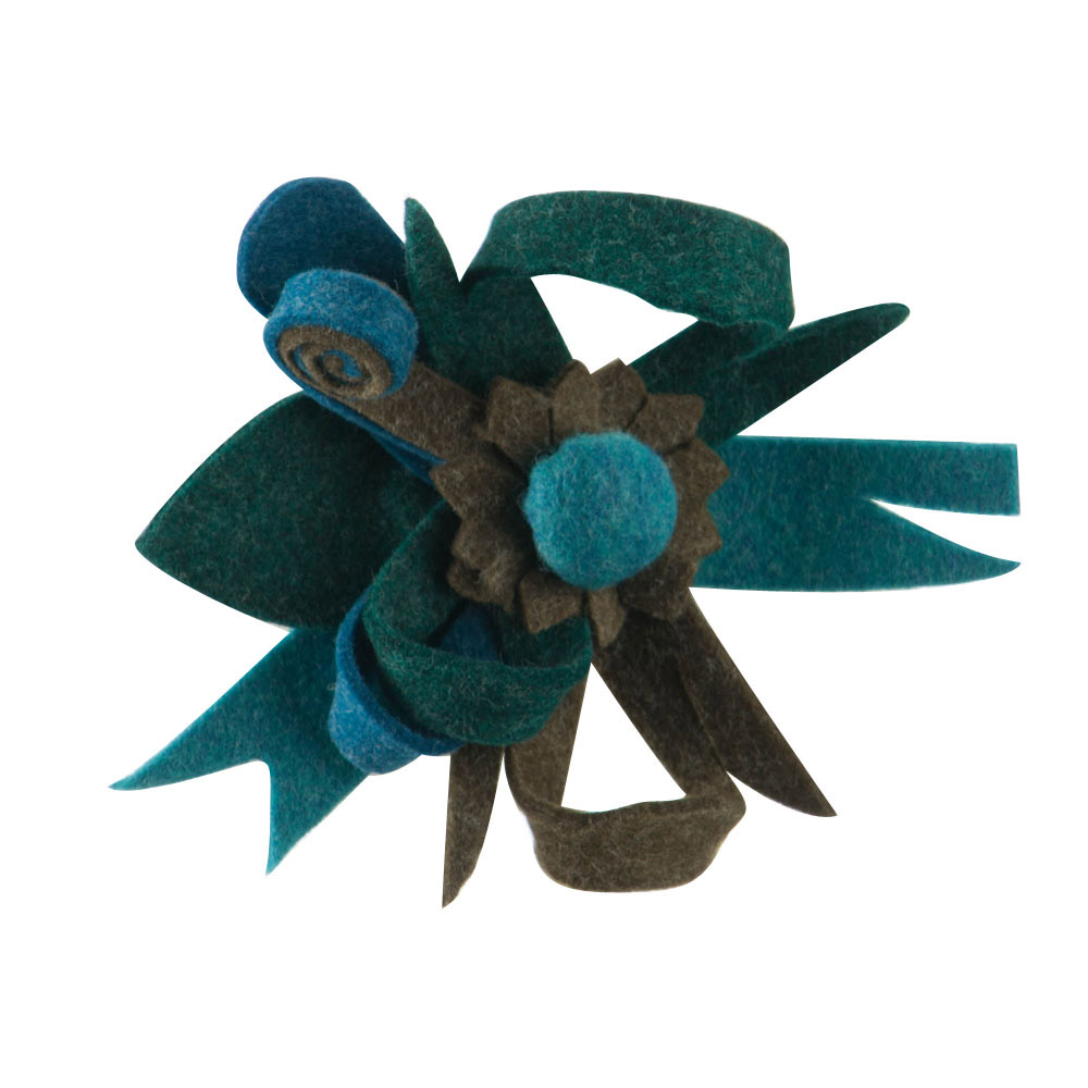 Small Felt Corsage Pin Hair Clip - Blue - Hats and Caps Online Shop - Hip Head Gear