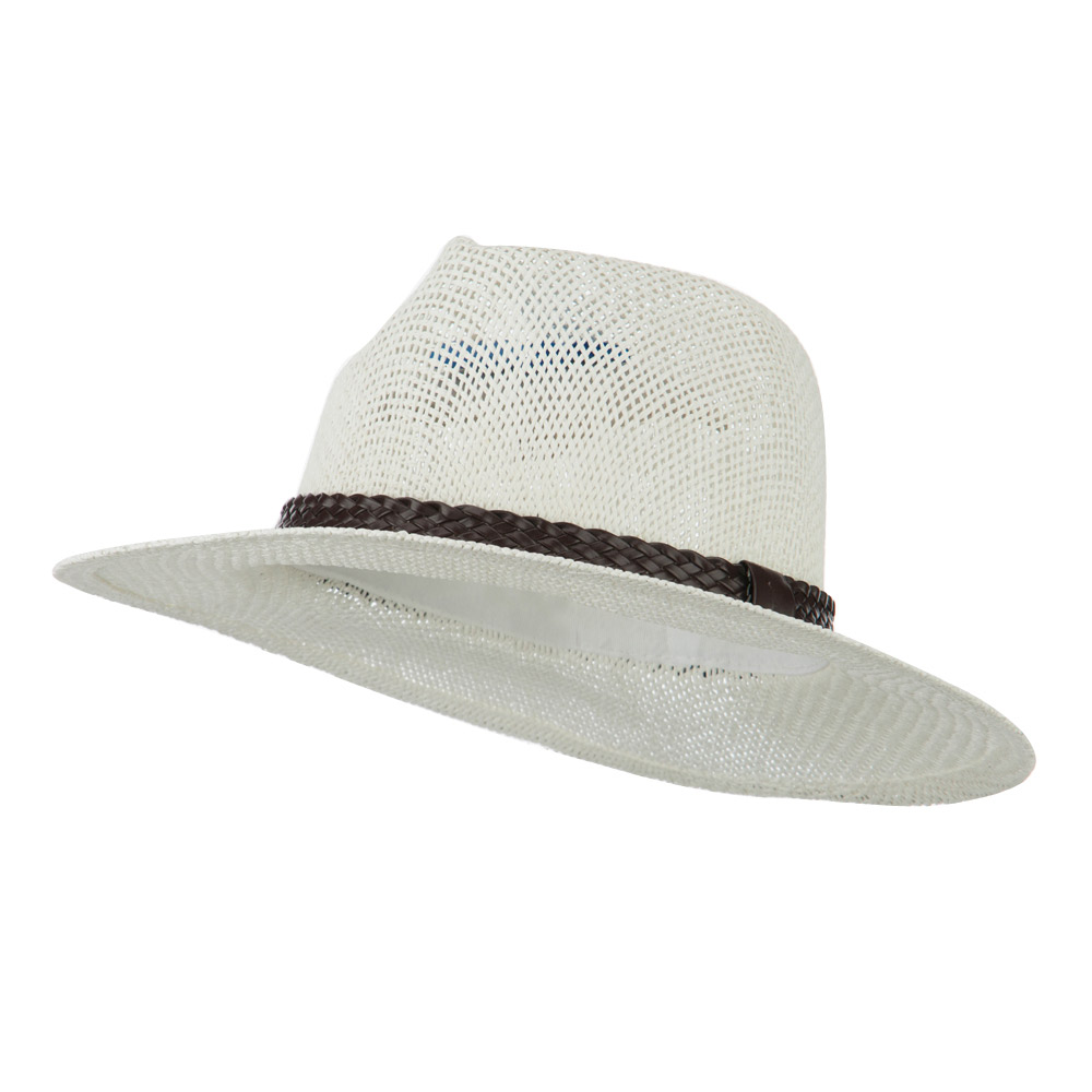 Fedora Style Cowboy Outback   - White - Hats and Caps Online Shop - Hip Head Gear