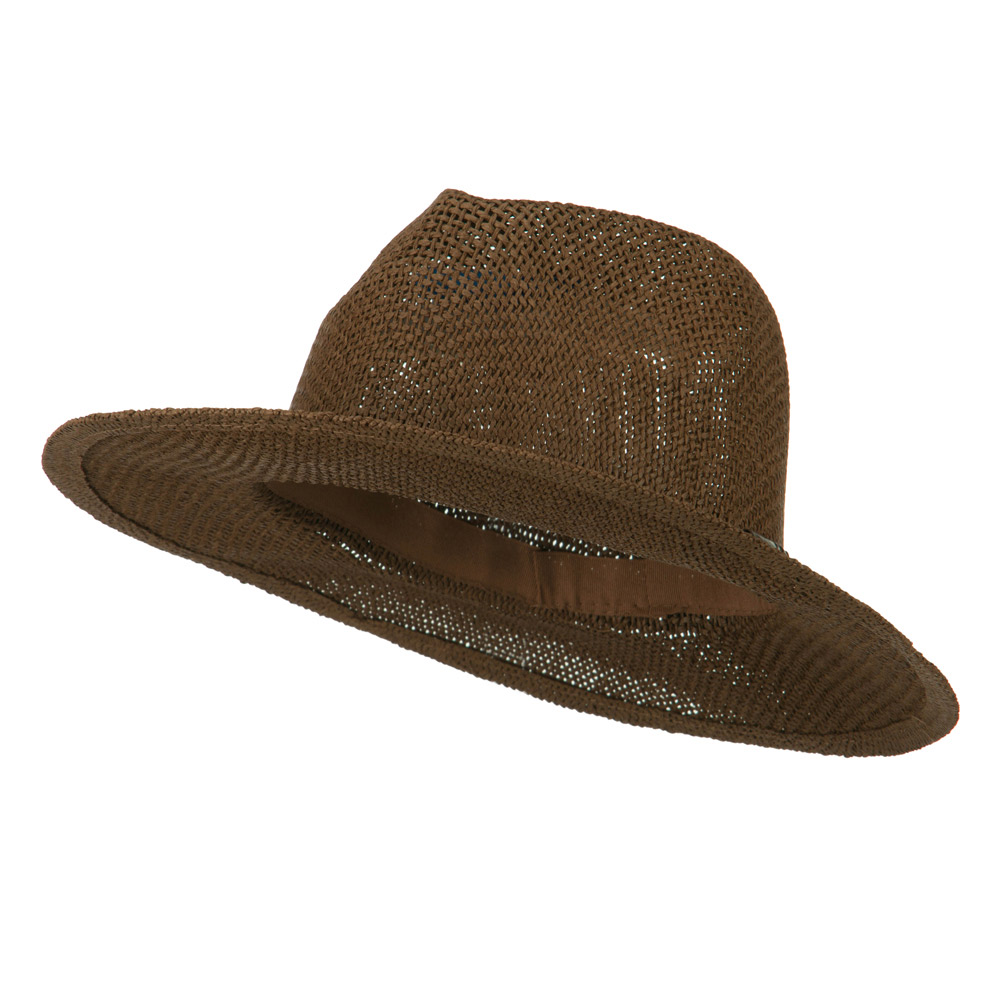 Fedora Style Cowboy Outback   - Brown - Hats and Caps Online Shop - Hip Head Gear