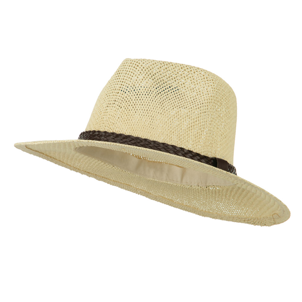 Fedora Style Cowboy Outback   - Beige - Hats and Caps Online Shop - Hip Head Gear