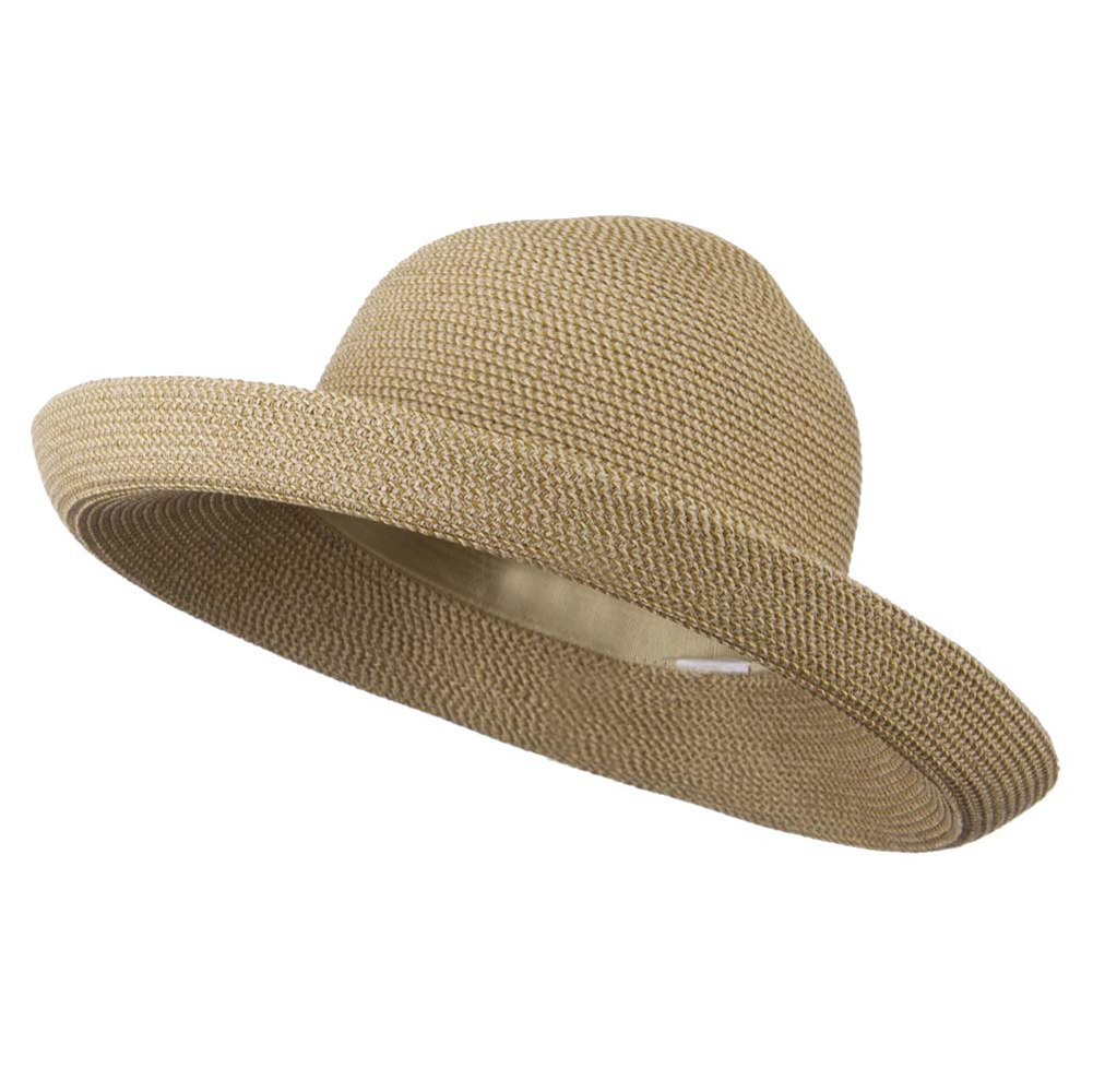 Kettle Brim UPF 50+ Cotton Paper Braid Hat - Tan Tweed - Hats and Caps Online Shop - Hip Head Gear
