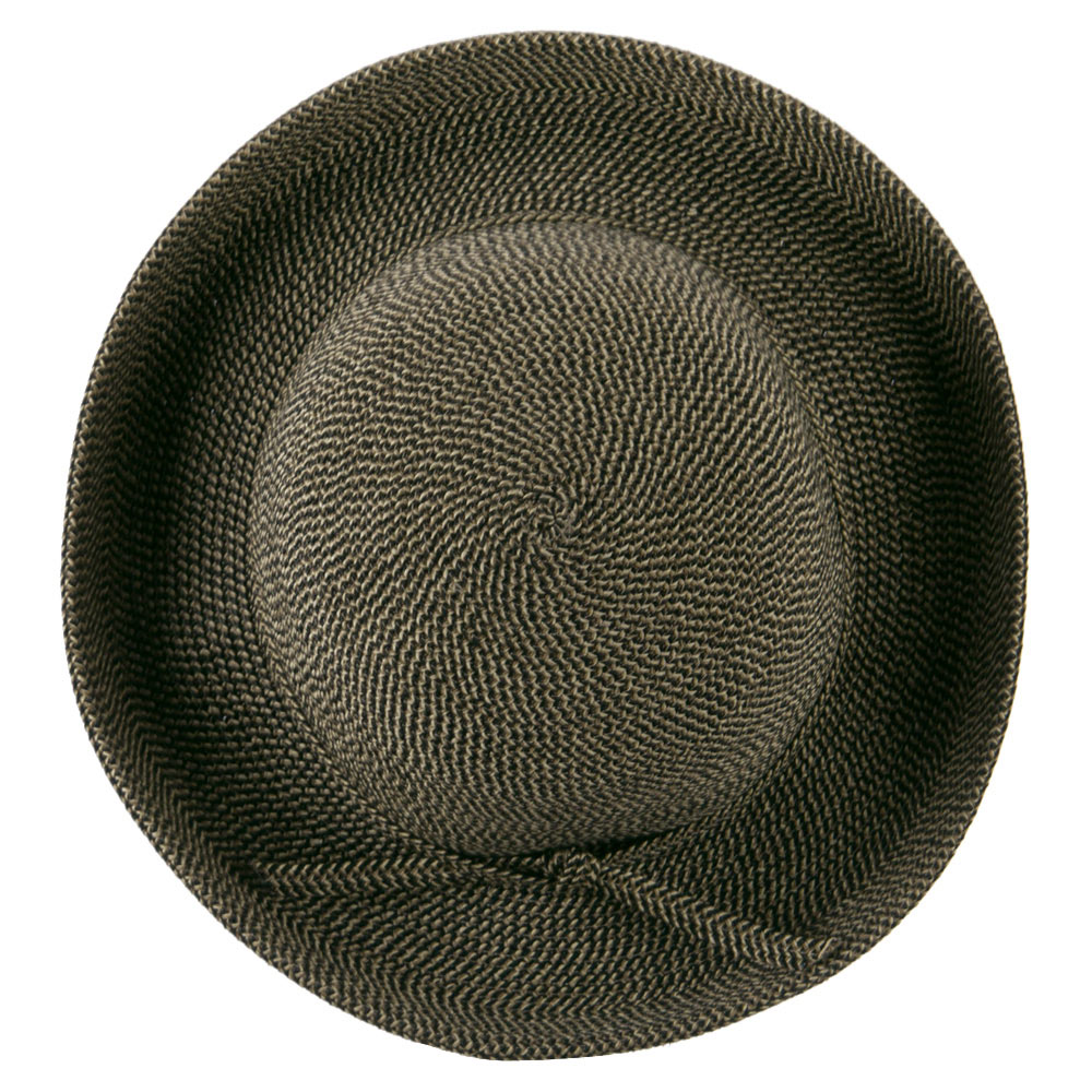 UPF 50+ Cotton Paper Braid Med Kettle Brim Hat - Black Tweed - Hats and Caps Online Shop - Hip Head Gear