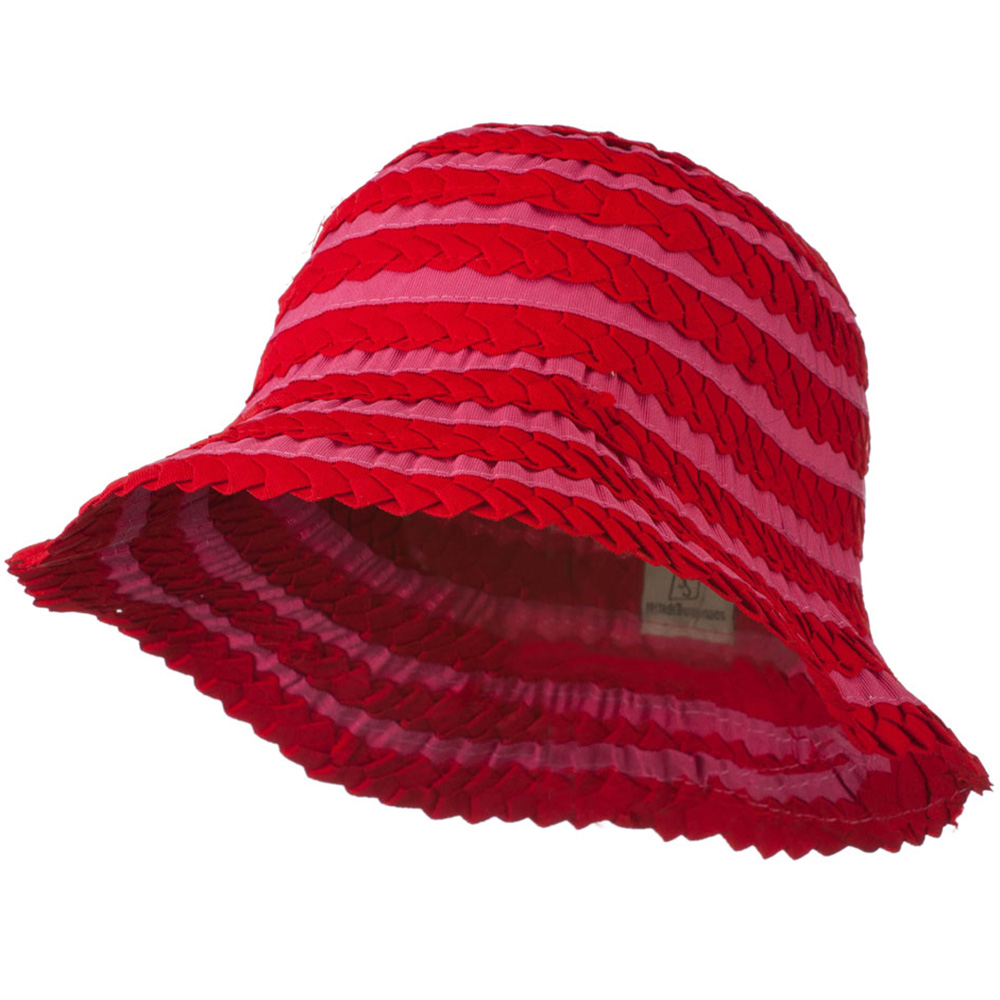 Crushable Ribbon Braid Hat - Red - Hats and Caps Online Shop - Hip Head Gear