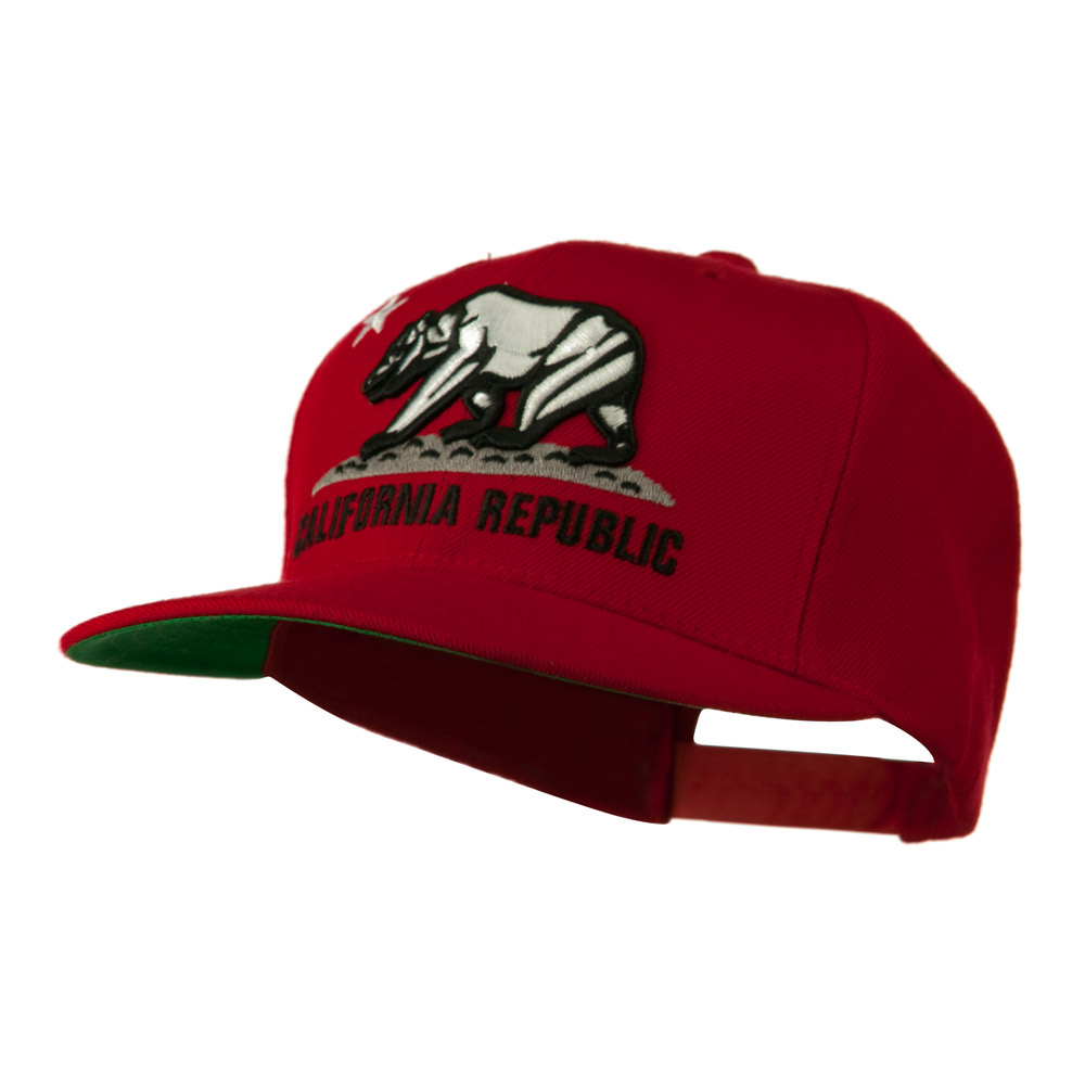 California Republic Cap - Red - Hats and Caps Online Shop - Hip Head Gear