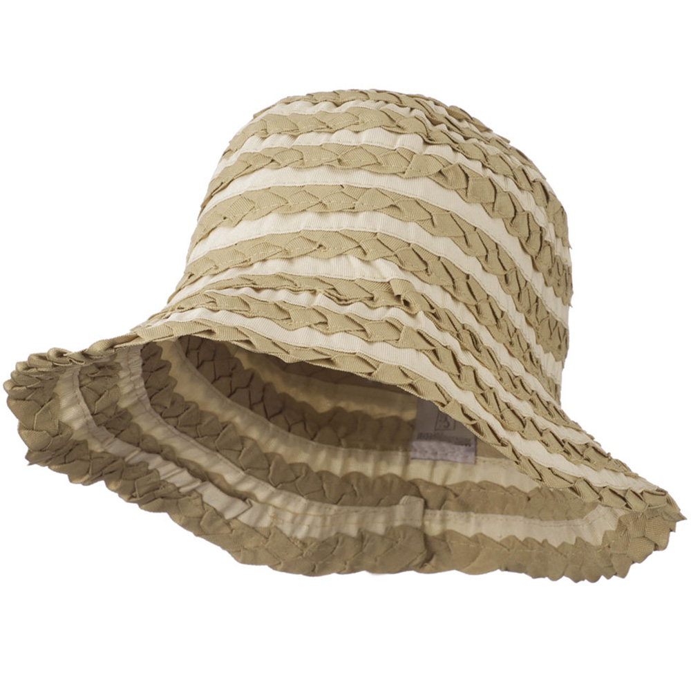 Crushable Ribbon Braid Hat - Camel - Hats and Caps Online Shop - Hip Head Gear