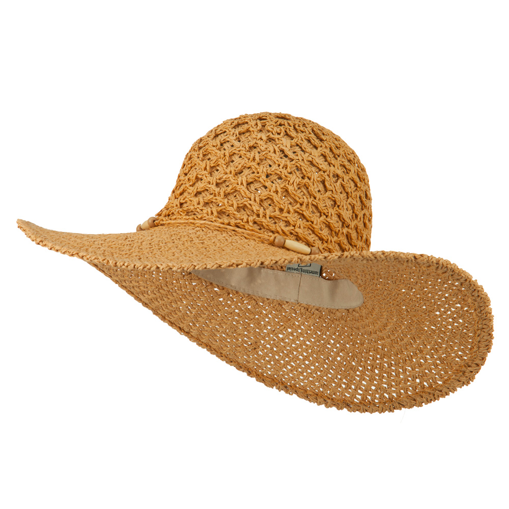 Crochet Crown Paper Straw Hat - Natural - Hats and Caps Online Shop - Hip Head Gear