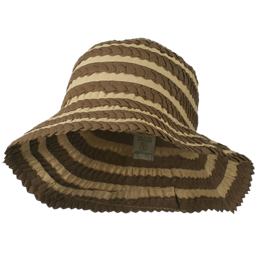 Crushable Ribbon Braid Hat - Brown - Hats and Caps Online Shop - Hip Head Gear