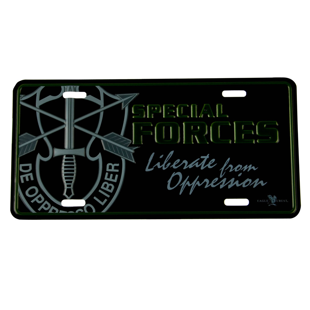 Army 3D Car Plates - Special