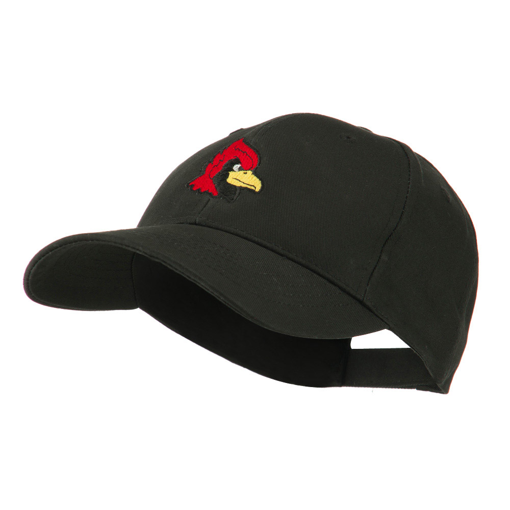 Cardinal Head Mascot Embroidered Cap - Black - Hats and Caps Online Shop - Hip Head Gear