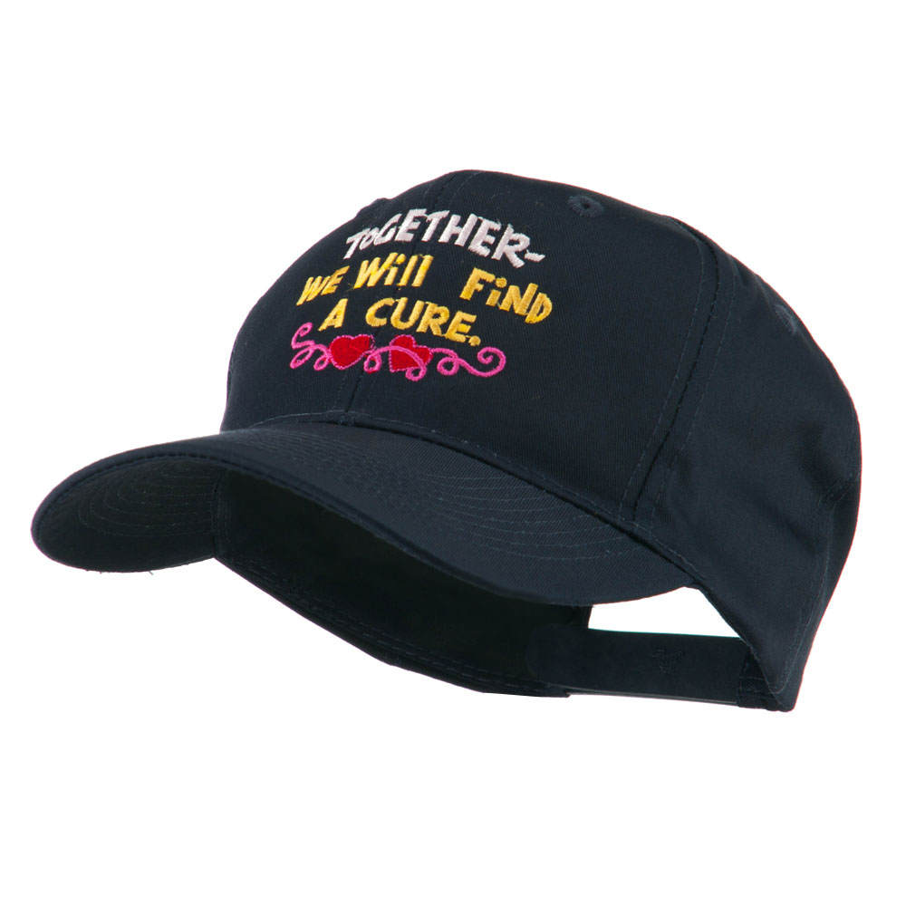 Cancer Cure Saying Embroidered Cap - Navy - Hats and Caps Online Shop - Hip Head Gear