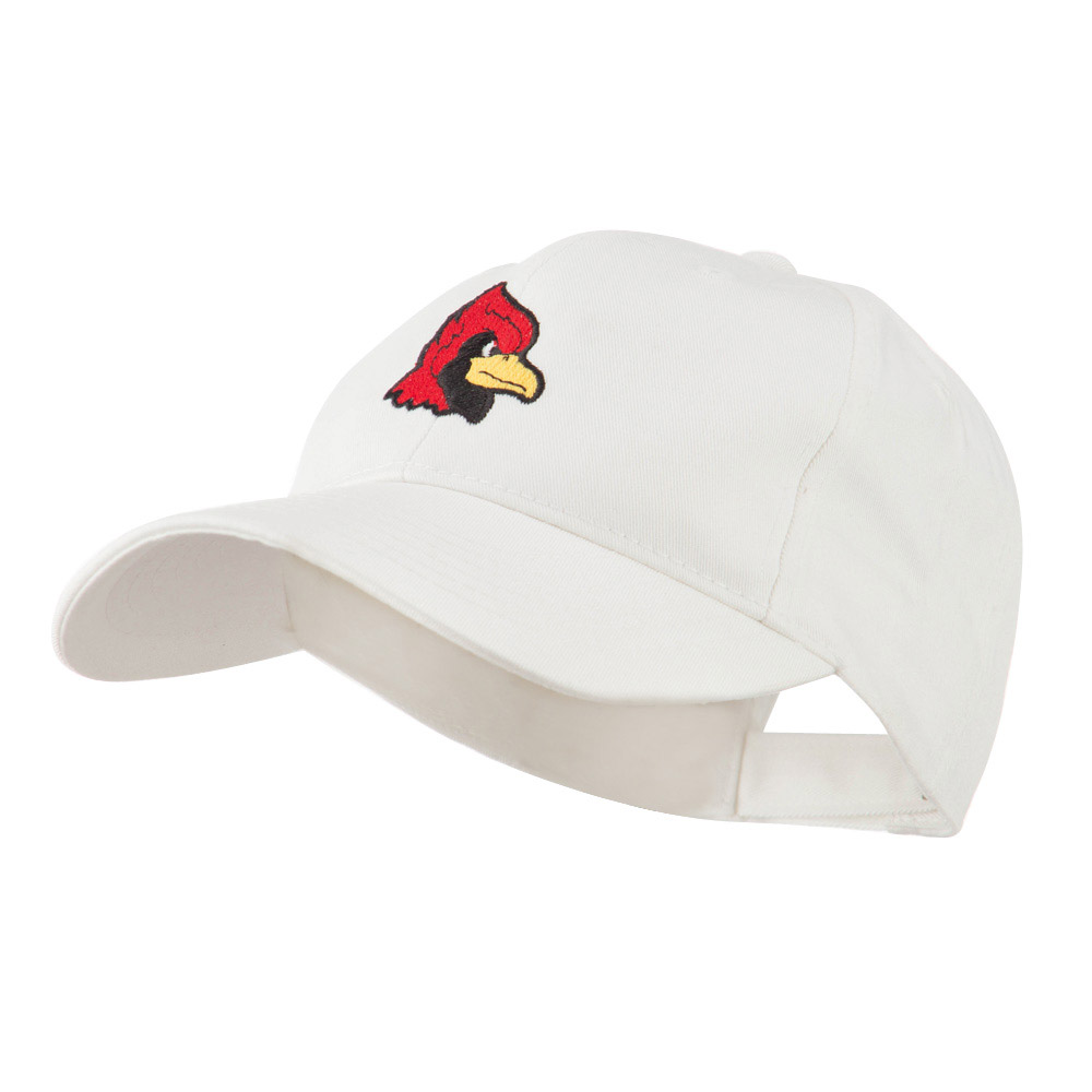 Cardinal Head Mascot Embroidered Cap - White - Hats and Caps Online Shop - Hip Head Gear