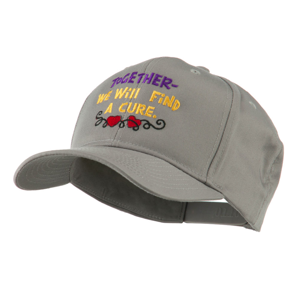 Cancer Cure Saying Embroidered Cap - Grey - Hats and Caps Online Shop - Hip Head Gear