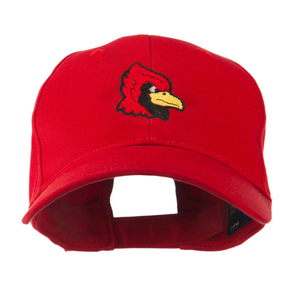 Cardinal Head Mascot Embroidered Cap - Red