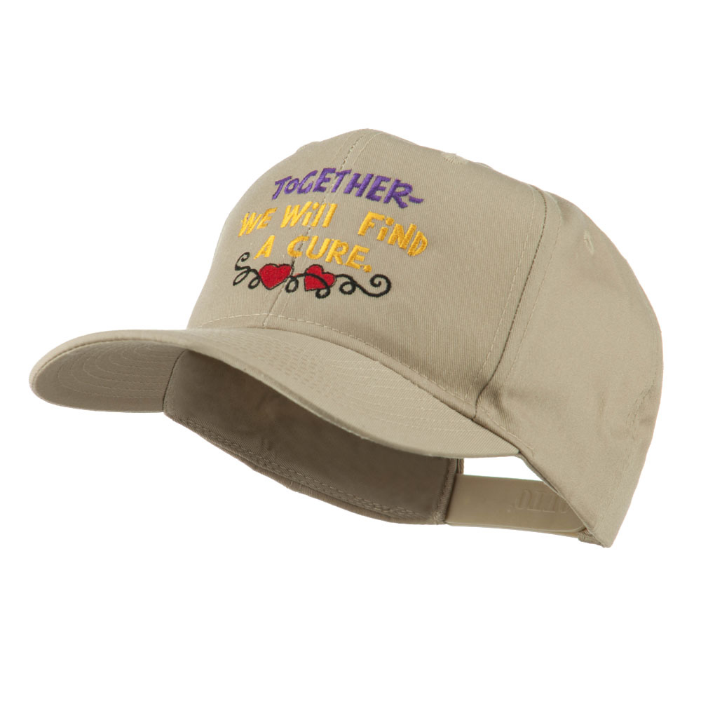 Cancer Cure Saying Embroidered Cap - Khaki - Hats and Caps Online Shop - Hip Head Gear