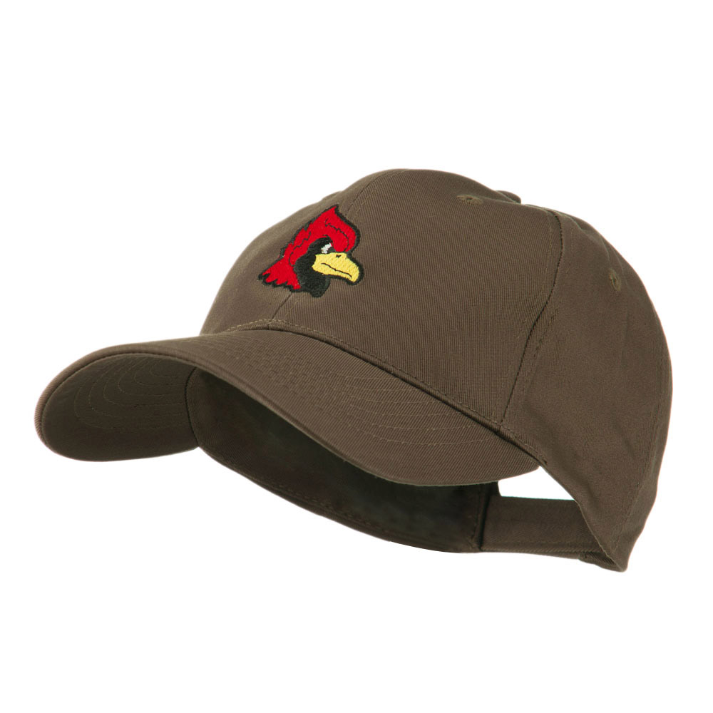 Cardinal Head Mascot Embroidered Cap - Brown - Hats and Caps Online Shop - Hip Head Gear
