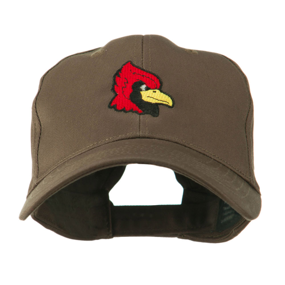 Cardinal Head Mascot Embroidered Cap - Brown