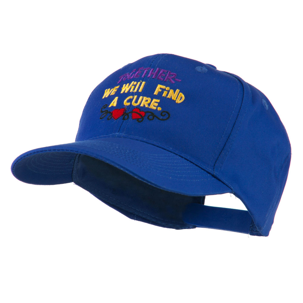 Cancer Cure Saying Embroidered Cap - Royal - Hats and Caps Online Shop - Hip Head Gear