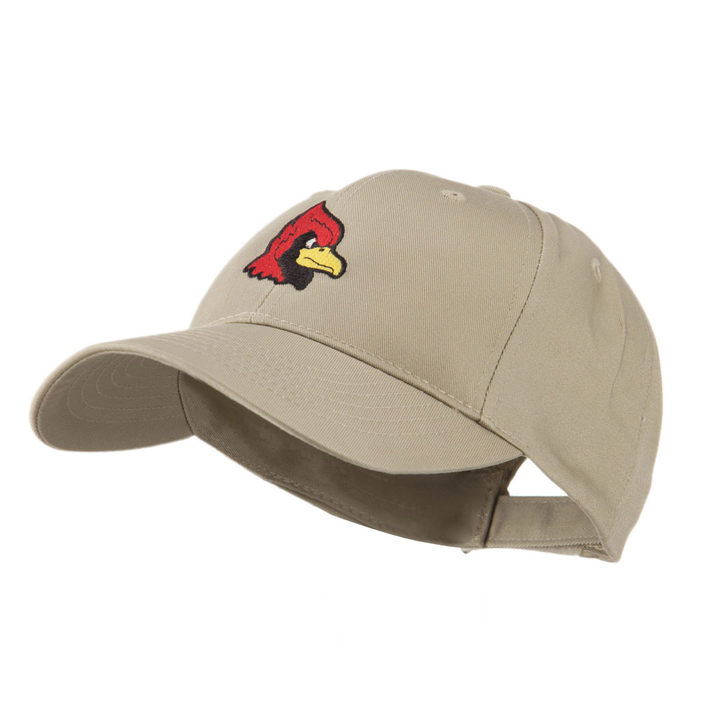 Cardinal Head Mascot Embroidered Cap - Khaki - Hats and Caps Online Shop - Hip Head Gear