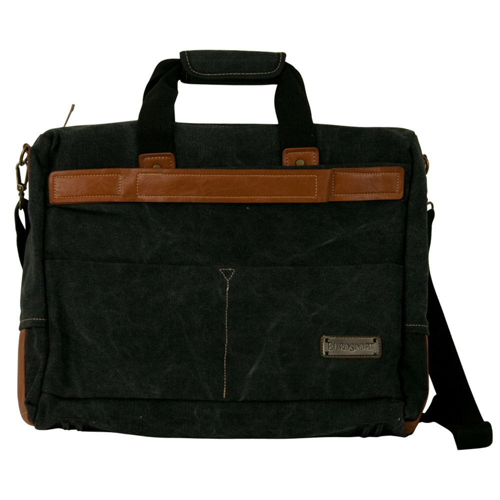 Canvas Bag with Side Strap - Black