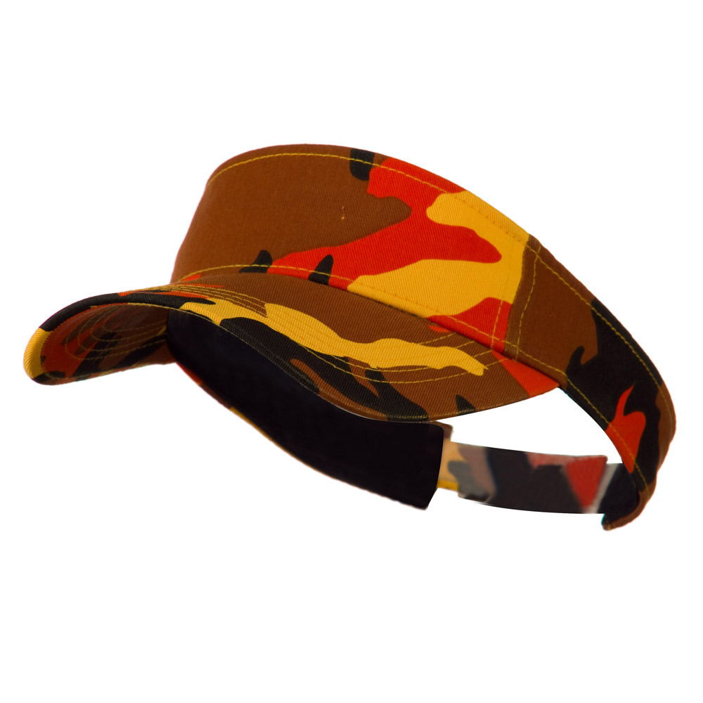 Camouflage Sports Visor - Orange - Hats and Caps Online Shop - Hip Head Gear