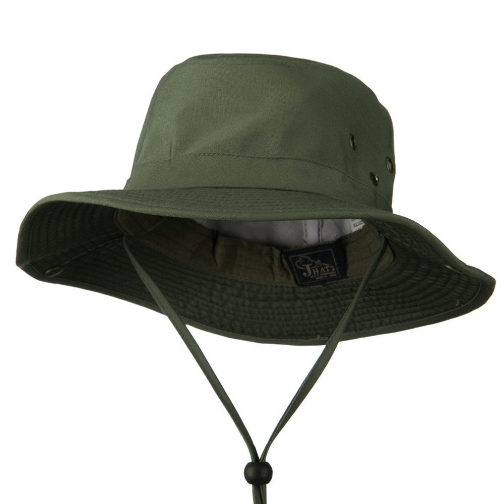 Cotton Safari Sports Fishing Hat - Olive - Hats and Caps Online Shop - Hip Head Gear