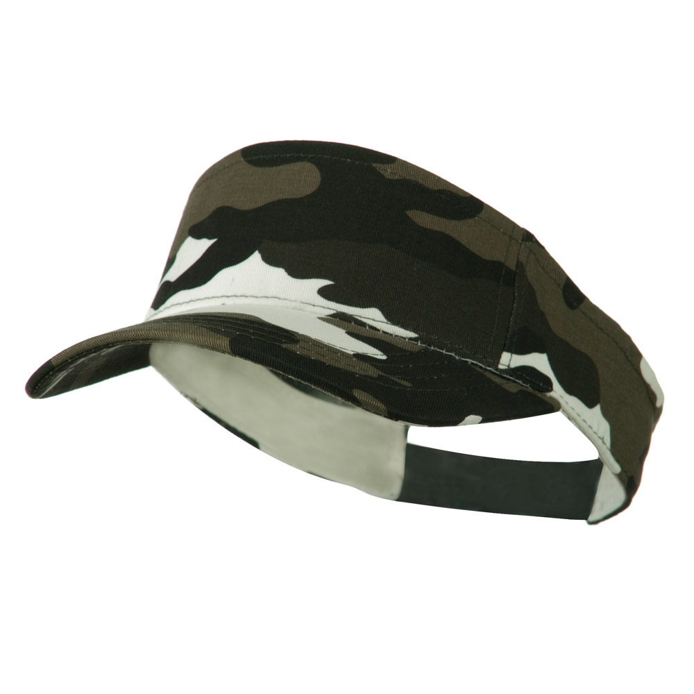 Camouflage Sports Visor - Grey - Hats and Caps Online Shop - Hip Head Gear