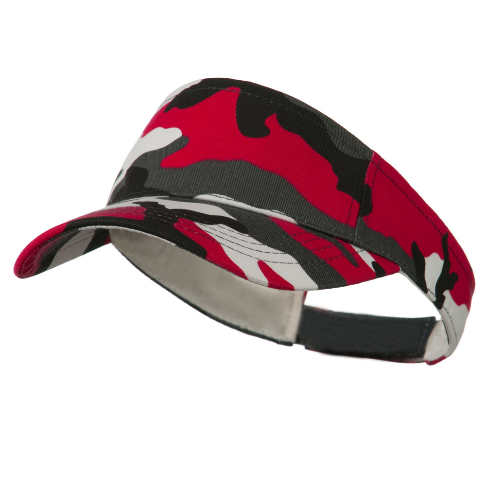 Camouflage Sports Visor - Red - Hats and Caps Online Shop - Hip Head Gear