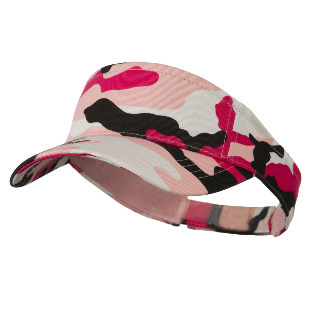 Camouflage Sports Visor - Pink - Hats and Caps Online Shop - Hip Head Gear