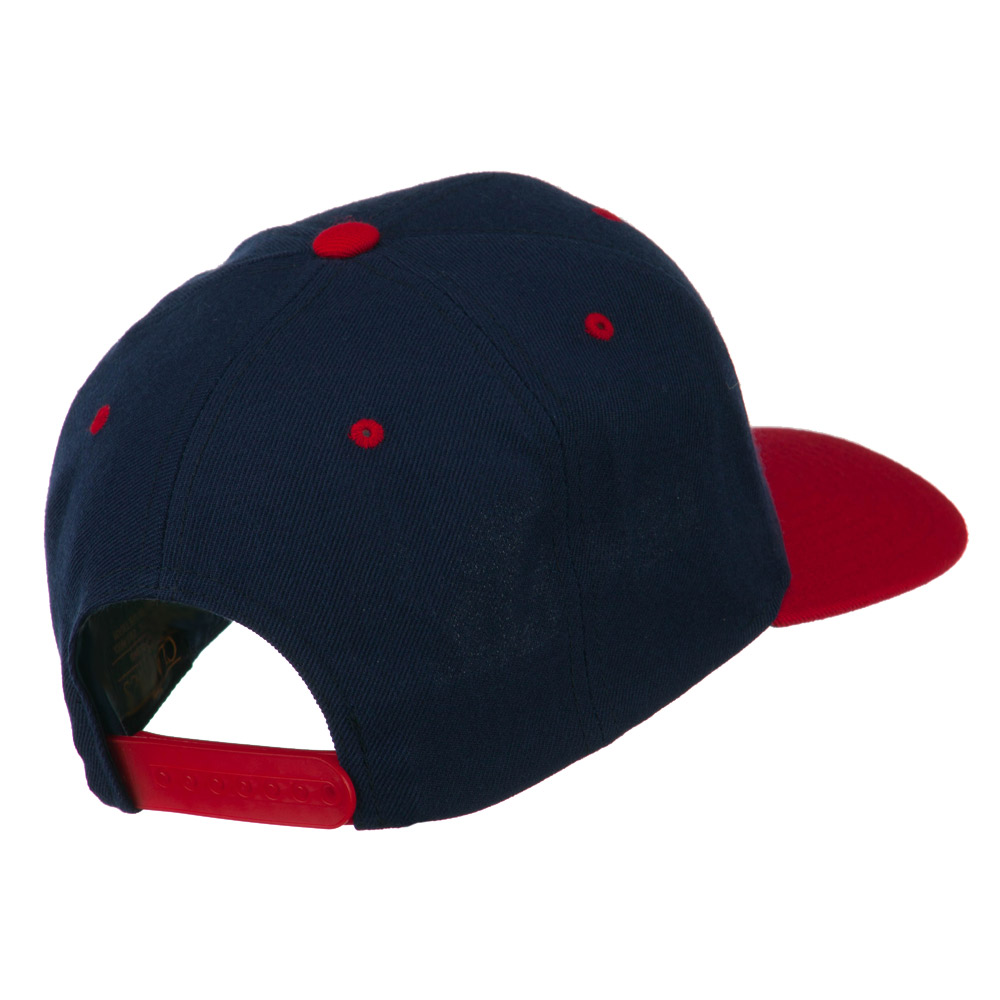 Classic Snapback Wool Blend 2 Tone Cap - Navy Red - Hats and Caps Online Shop - Hip Head Gear