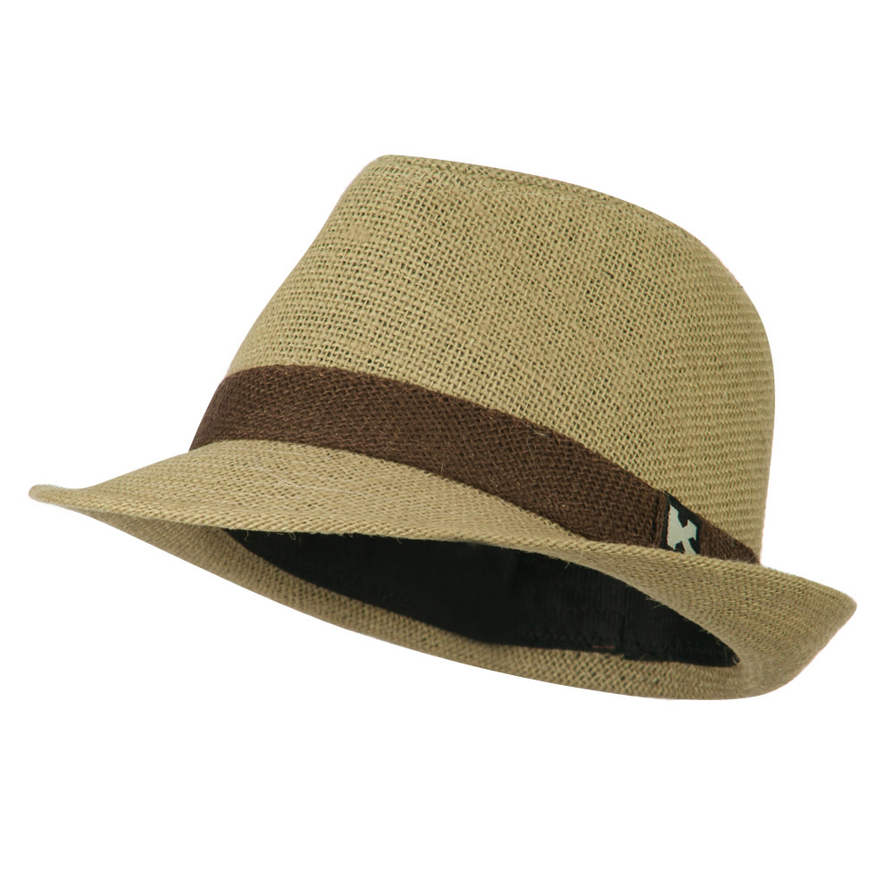 Children's Toyo Fedora Hat - Khaki - Hats and Caps Online Shop - Hip Head Gear