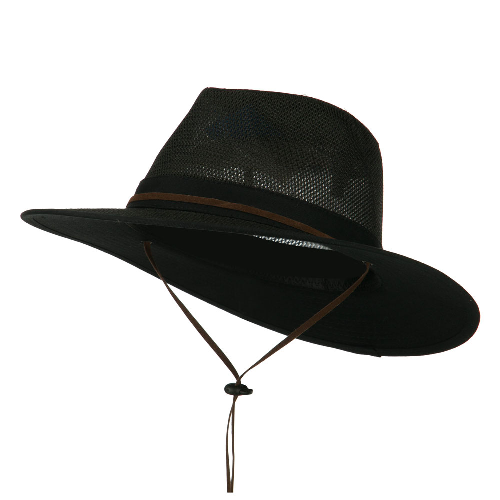 Cotton Twill Mesh Safari Hat - Black - Hats and Caps Online Shop - Hip Head Gear