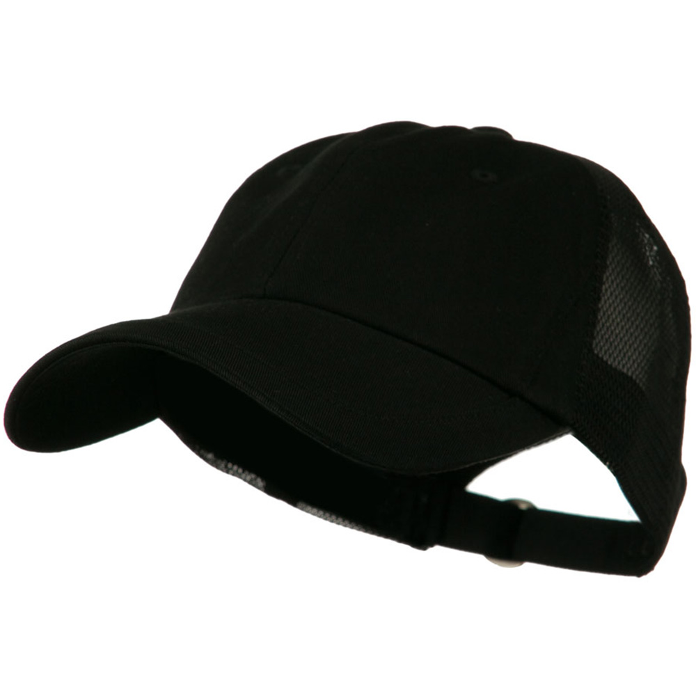 Low Profile Cotton Twill Mesh Cap - Black - Hats and Caps Online Shop - Hip Head Gear