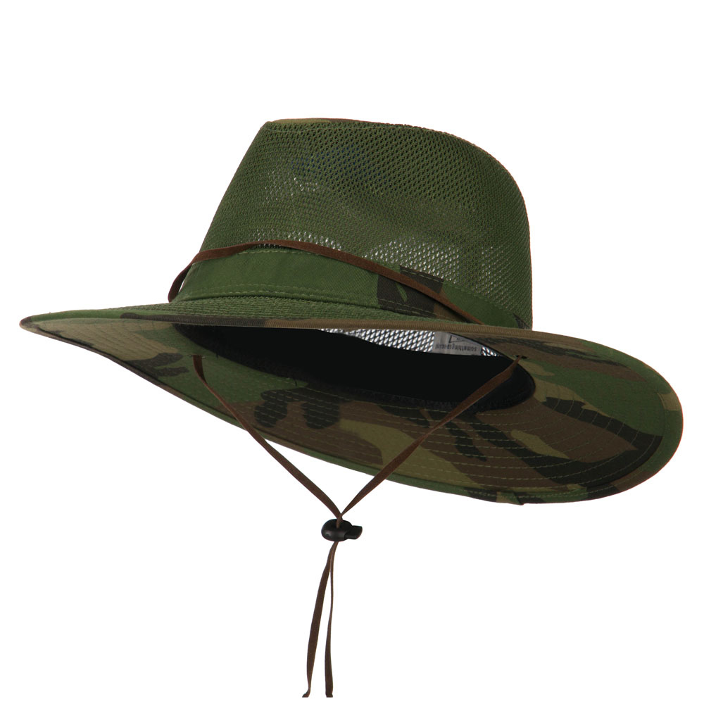Cotton Twill Mesh Safari Hat - Camo - Hats and Caps Online Shop - Hip Head Gear