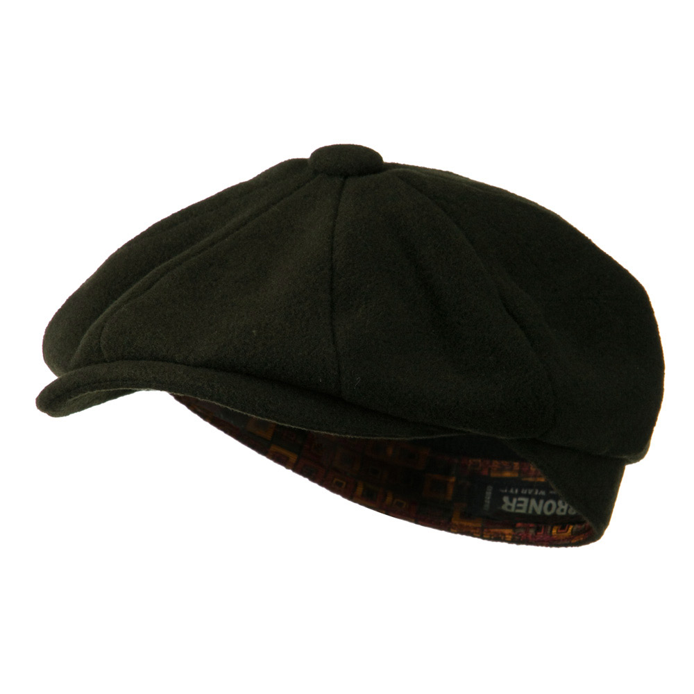 Wool Blend 8 Quarter Tie Lining Cap - Olive - Hats and Caps Online Shop - Hip Head Gear